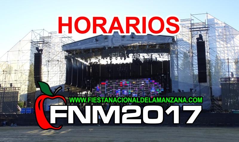 Estos son los HORARIOS de los ESPECTACULOS en la FIESTA NACIONAL de la MANZANA 2017